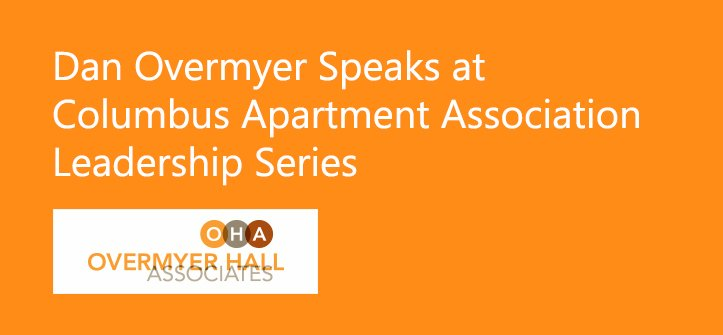 Dan Overmyer speaking at Columbus Apartment Association Leadership Series