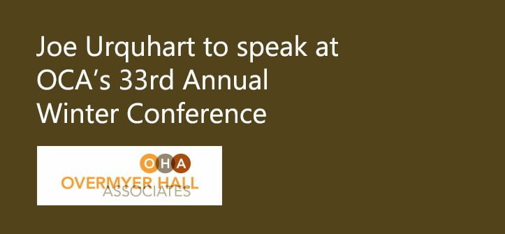 Joe Urquhart to Speak at OCA Winter Conference
