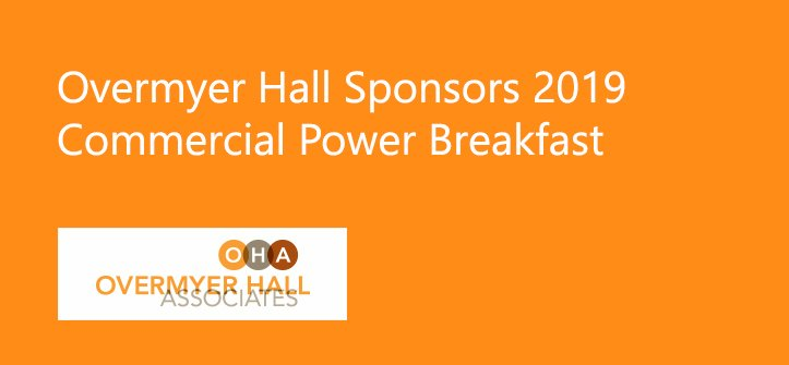Overmyer Hall Sponsors 2019 Commercial Power Breakfast