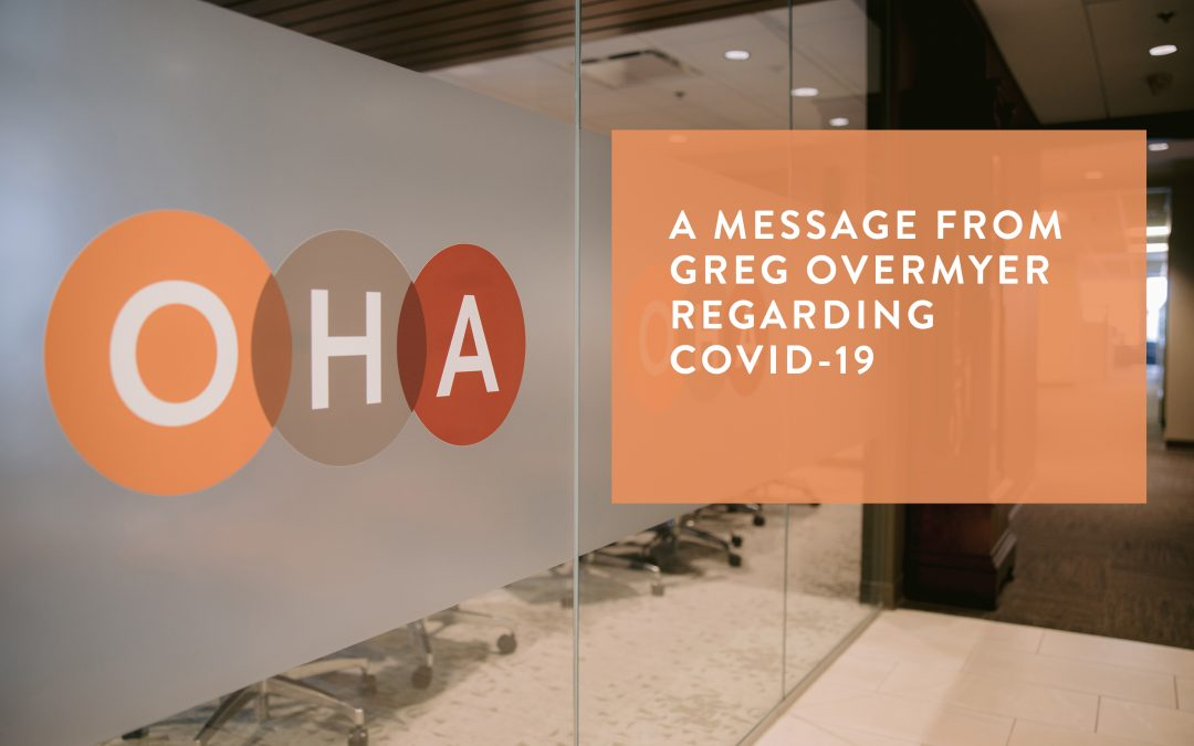 A Message from Greg Overmyer re: COVID-19